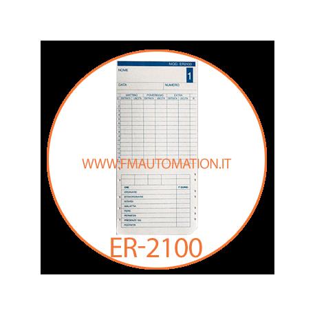25 PEZZI Schede marcatempo ER2100//M qundicinali a doppia faccia per MAX 1600
