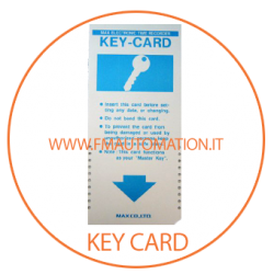 KEY-CARD per programmazione timbracartellino MAX 1500