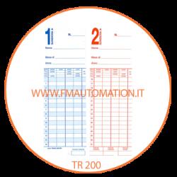 Schede marcatempo CARTELLINI  Bifacciali  TR 200 1/15-16/31