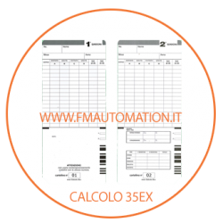 Schede marcatempo CARTELLINI   Bifacciali CALCOLO 35ex - CALCOLO 50ex