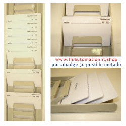 Casellario porta badge 30 posti