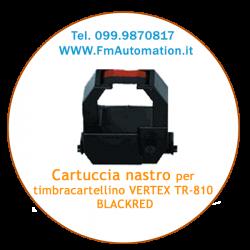 Cartuccia nastro timbracartellino  VERTEX TR-810 BLACK/RED