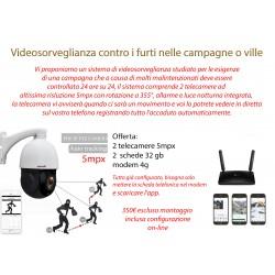 Videosorveglianza contro i furti nelle campagne o ville