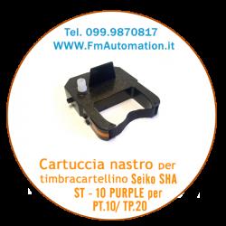 Cartuccia nastro per timbracartellino  SEIKO SHA ST - 10 PURPLE per PT.10/ TP.20
